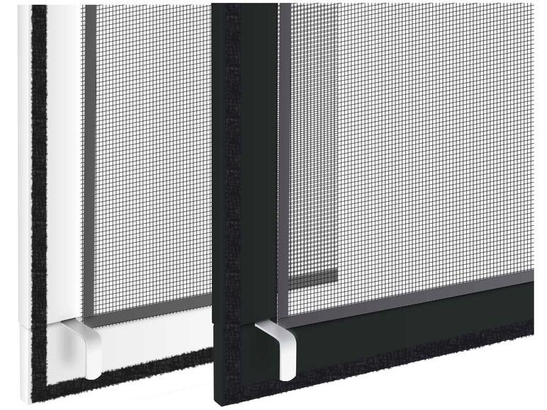 insektenschutz fenster mit alu rahmen anthrazit 130x150 fliegen m cken gitter. Black Bedroom Furniture Sets. Home Design Ideas