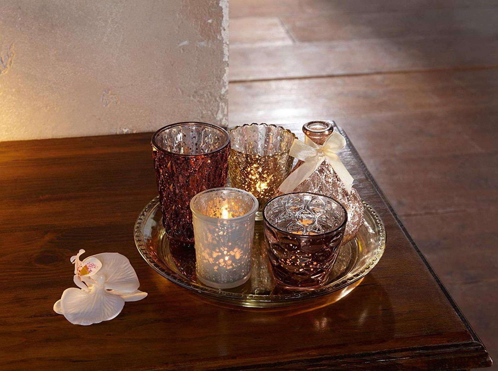 Marokkanische Windlichter Leder Teelichter Henna Lampe Marokko Orient Handarbeit
