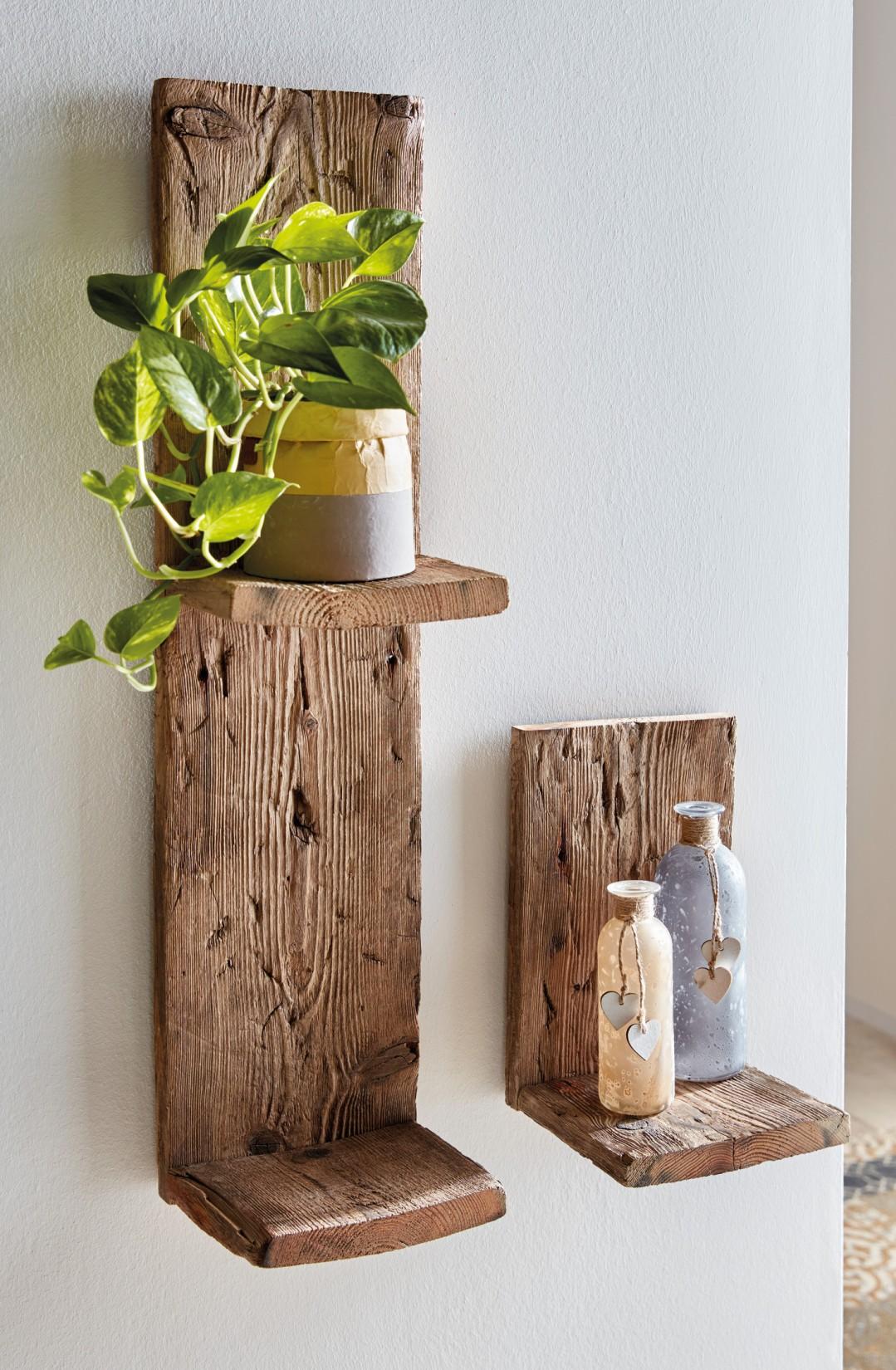 Wand Regal Aus Recyceltem Paletten Holz Klein Blumen Hange Board