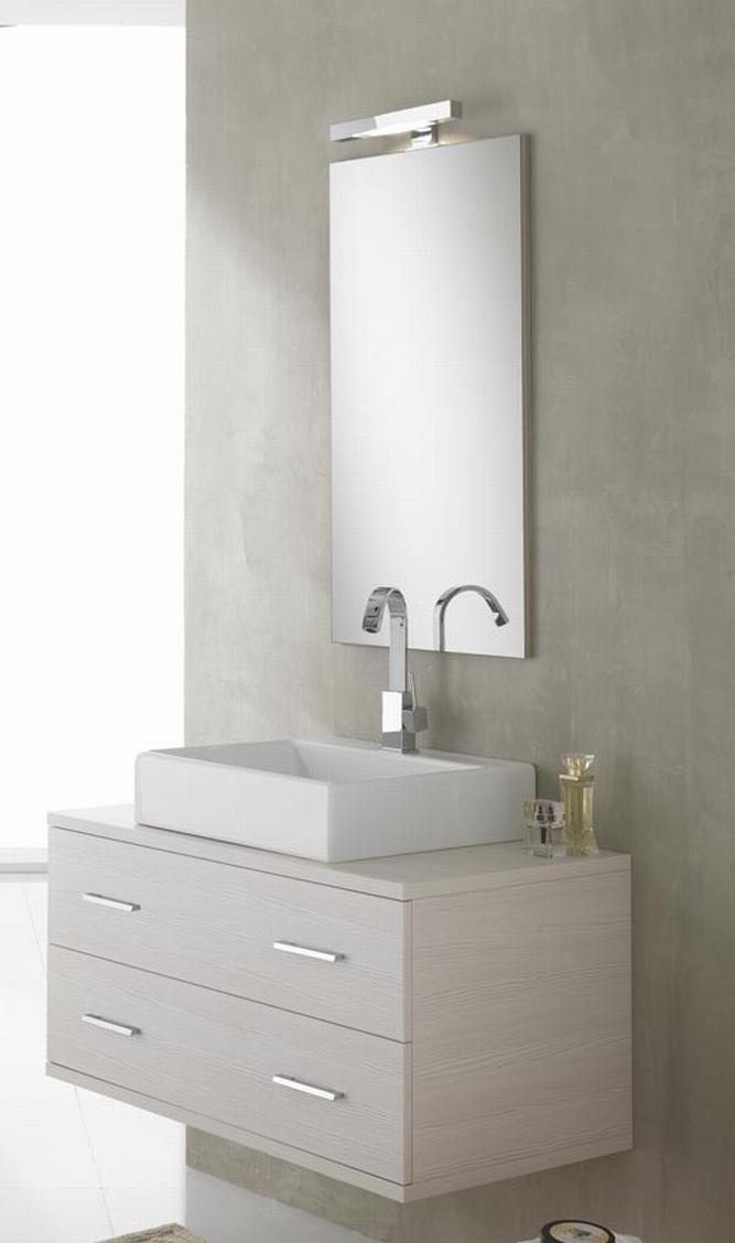 ital design bad spiegel 90 x 47 5 cm mit led beleuchtung badezimmer wand panel ebay. Black Bedroom Furniture Sets. Home Design Ideas