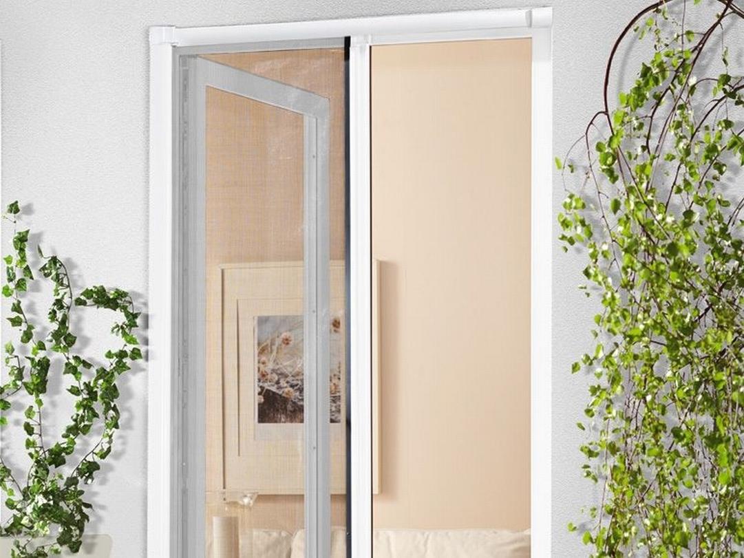 insekten schutz t r rollo anthrazit ohne alu rahmen wei 2 wahl fliegen gitter ebay. Black Bedroom Furniture Sets. Home Design Ideas