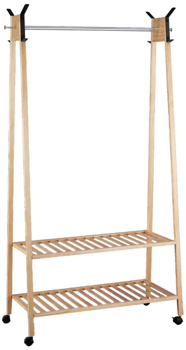 TOMASUCCI Design Kleider Ständer GRAZIA Aus Zedern Holz Garderobe Schuh  Regal