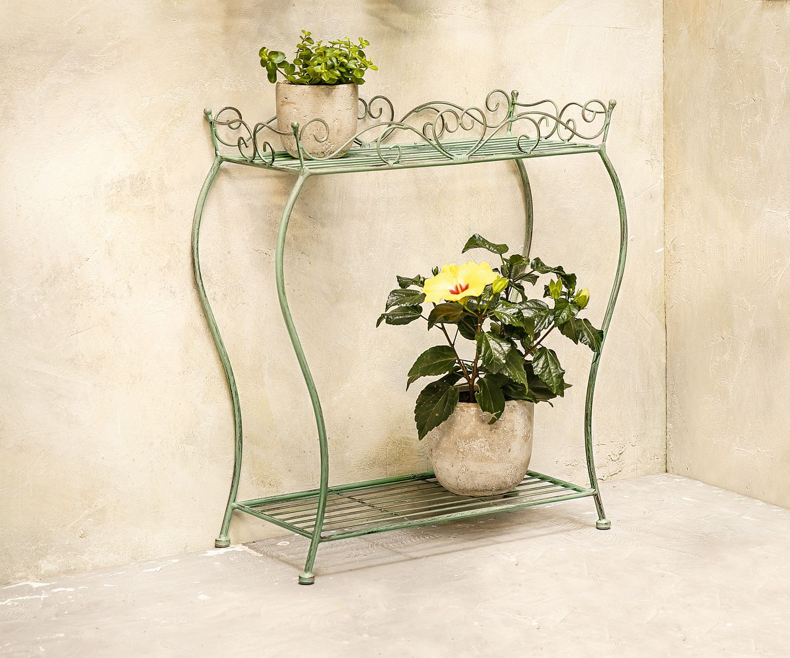Stand Regal Ranken Aus Metall Antik Design Fur Blumen Pflanzen