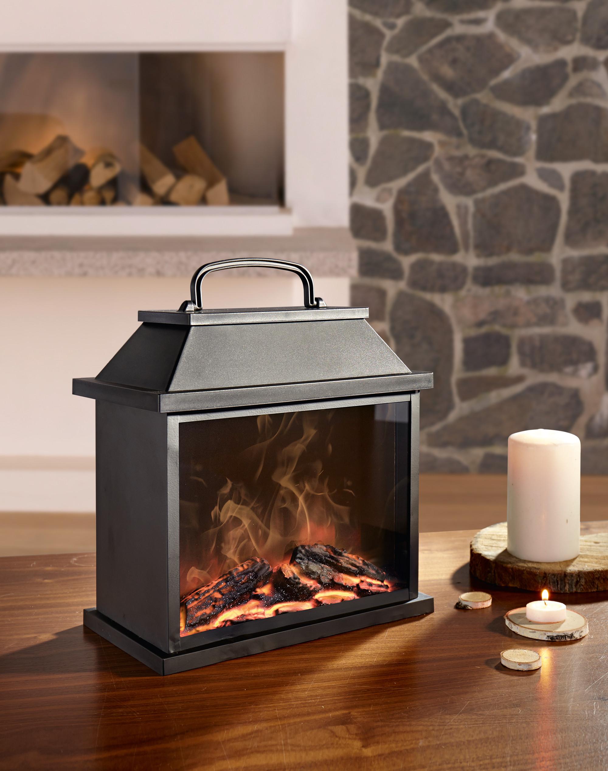 Led Laterne Kamin Stand Elektro Ofen Kamin Warme Feuer Mit Flammeneffekt