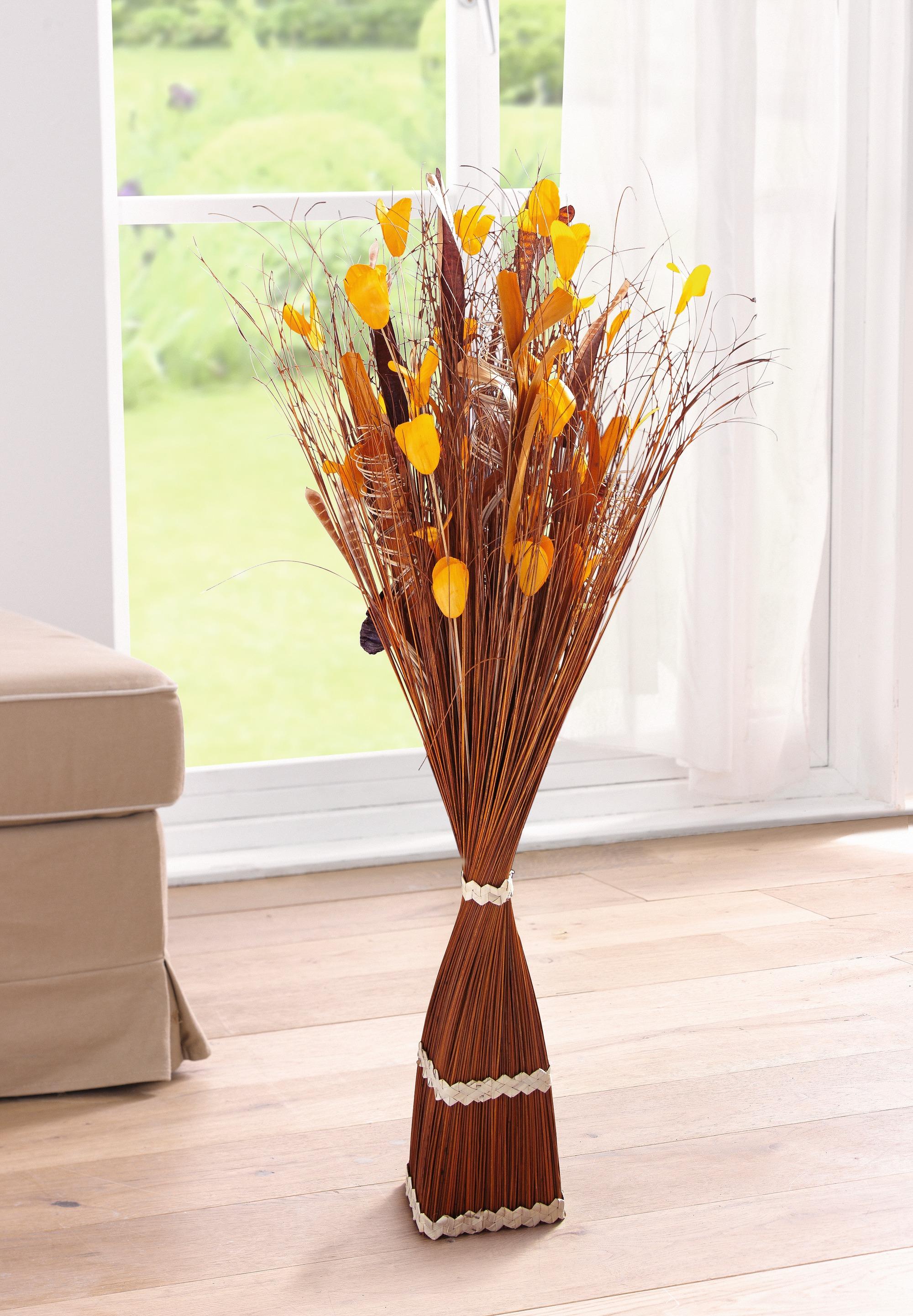 deko b ndel orange natur zweige raum holz objekt tisch kunstpflanze ebay. Black Bedroom Furniture Sets. Home Design Ideas