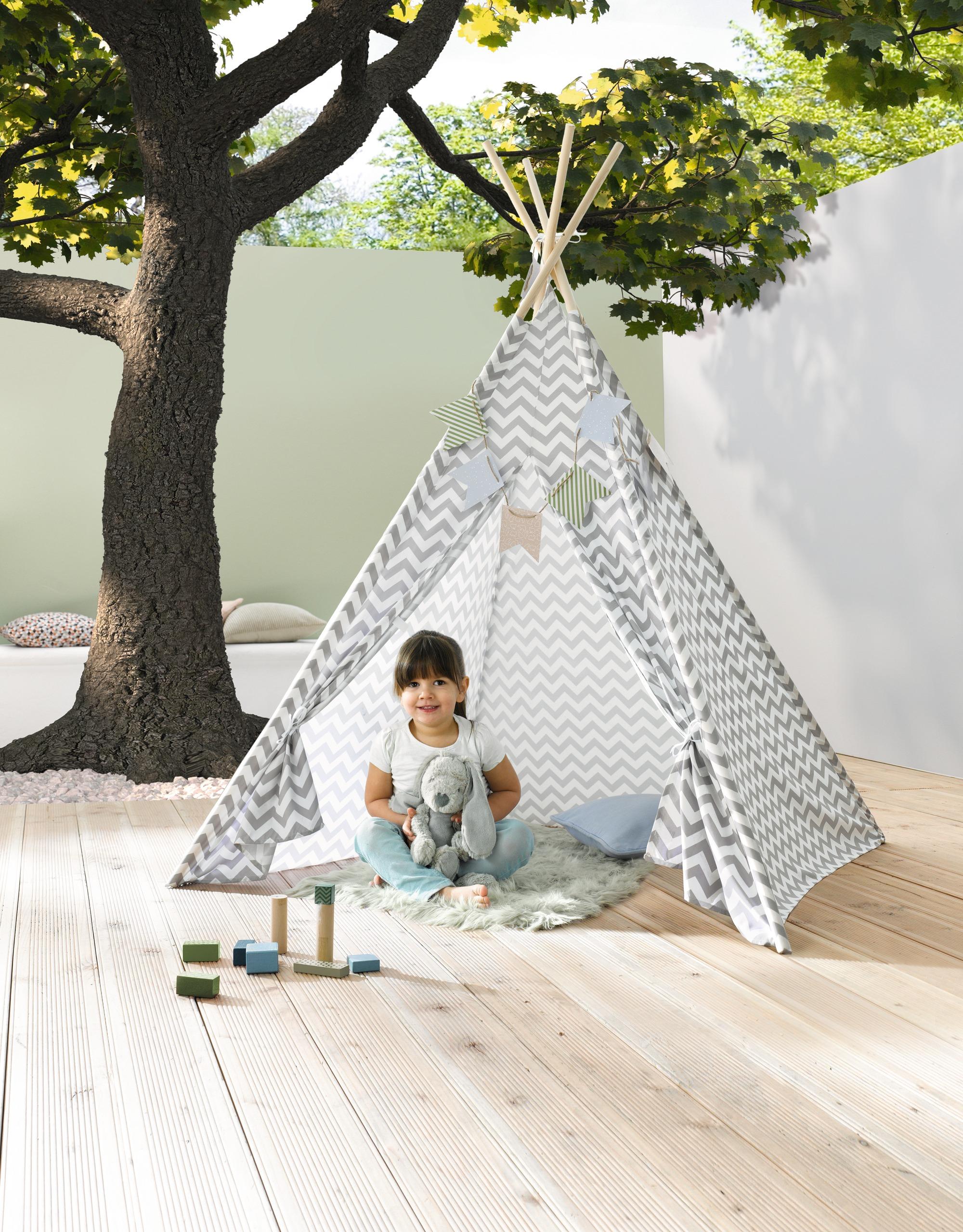 tipi wimpelkette kinderzelt wigwam indianer spielzelt zelt kinder indianertipi ebay. Black Bedroom Furniture Sets. Home Design Ideas