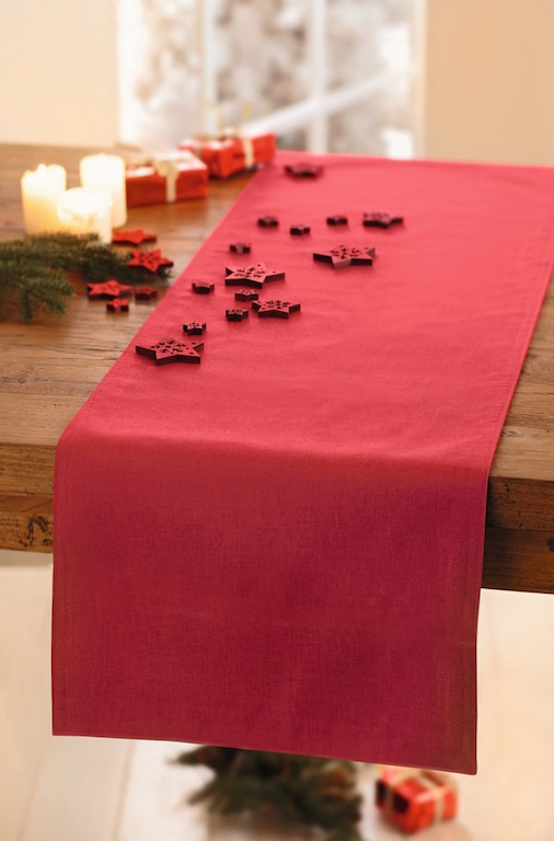 tischl ufer rot 40x150 tischdecke tischband tischdeko. Black Bedroom Furniture Sets. Home Design Ideas