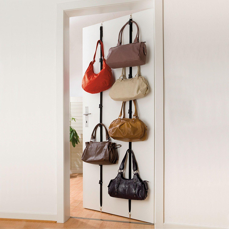 2x Wenko Handtaschen Garderobe Fur Je 8 Taschen Tur Hange Regal Ebay