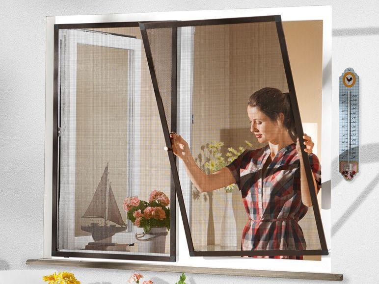 insektenschutz fenster mit alu rahmen wei 130x150 neu fliegengitter 2 wahl ebay. Black Bedroom Furniture Sets. Home Design Ideas