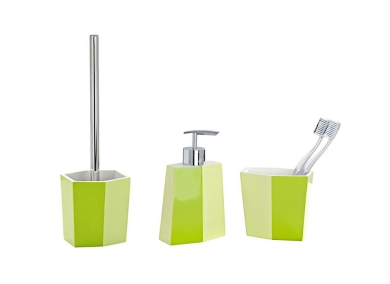 Toilet Accessoires Set : Tlg wenko bad set bicolor grün wc garnitur seifenspender